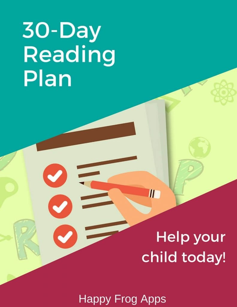 Our 30 Day Reading Plan gets your struggling reader on the path to reading success! And it's FREE!